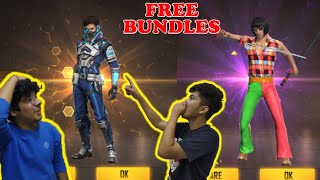 Free Fire || I GOT DISCO FIASCO AND SPECIAL FORCE BUNDLES FOR FREE || LIVE REACTION NEW UPDATE