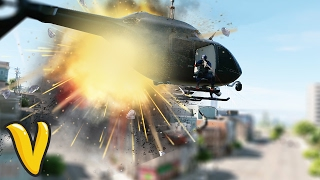DRONE CRASH INTO A HELICOPTER! :: Watch Dogs 2 Funny Moments