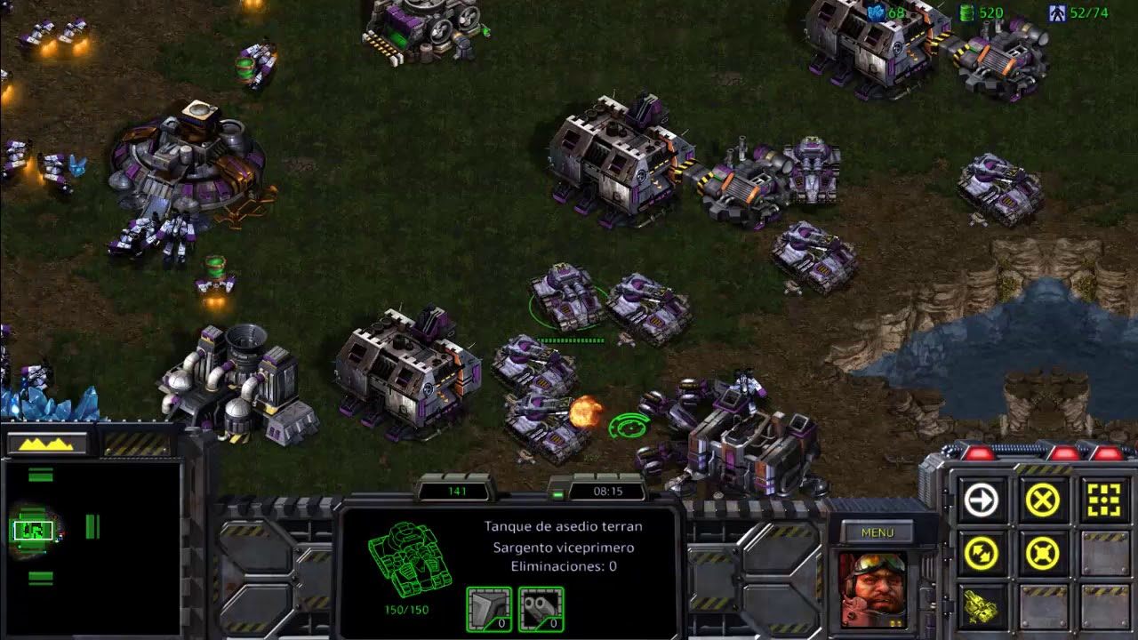 Download Starcraft remastered:Terran vs 7 IA full mech no bunkers: Big Game Hunters (Freesoul)