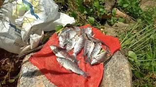 População aproveita cheia de barragem do Rio Cocó para pescar