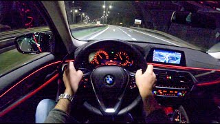 BMW 5 Night | POV Test Drive #503 Joe Black
