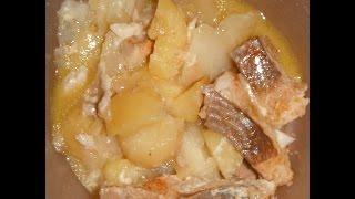 Рыба с картофелем в микроволновке
