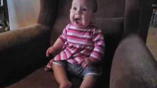 Overexcited Baby Screams Herself Faint