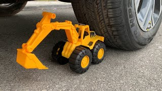 Experiment Car vs Excavator Toys | Crushing Crunchy & Soft Things by Car | Test Ex