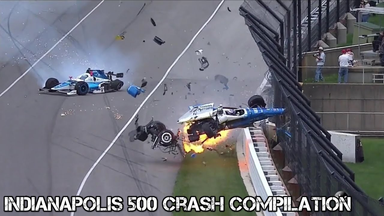 2017 Indianapolis  500 - Crash Compilation