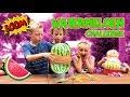 WATERMELOEN CHALLENGE: Een Watermeloen Met Elastiekjes Laten Ontploffen!!💥 ♥DeZoeteZusjes♥