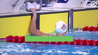Anne Lazor Takes First In The Women's 100m Breaststroke | Pan American Games Lima 2019