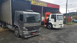 Mercedes Atego X Ford Cargo. Entrando no clima