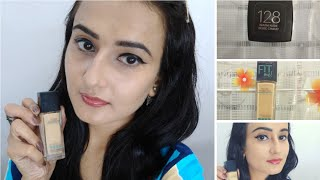 MAYBELLINE FIT ME FOUNDATION (WARM NUDE 128) || HONEST REVIEW & DEMO || SWATI BHAMBRA