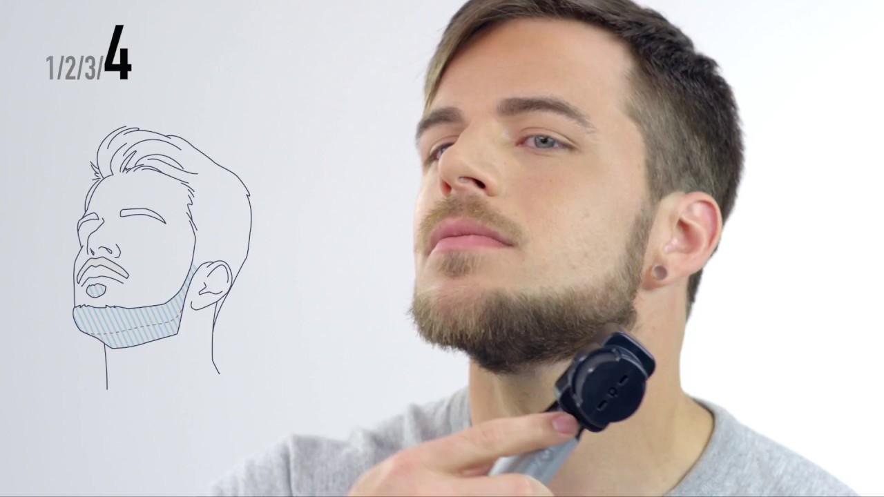Tutorial barba  Corte de barba Mentón y líneas definidas con la recortadora  ER-GD60 9170c84ffdf4