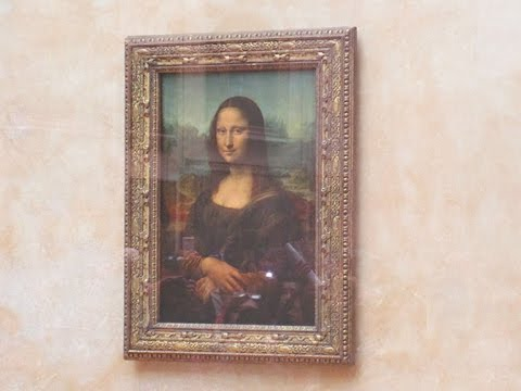 Mona Lisa - The Original Painting in Louvre Museum, Paris