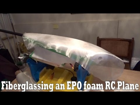 Fiberglassing a EPO foam RC plane