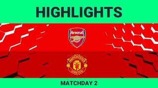 Arsenal FC vs Manchester United | Highlights Matchday 2 eFootball.Pro 2019-2020