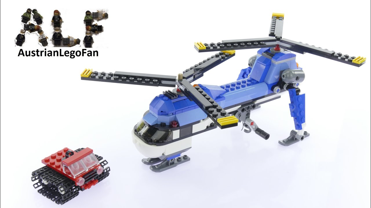 Lego Creator 31049 Twin Spin Helicopter Model 1of3 - Lego Speed Build  Review - YouTube