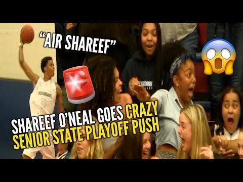 SHAREEF O'NEAL Makes the Crowd Go OFF in First State Playoff Elimination Game!