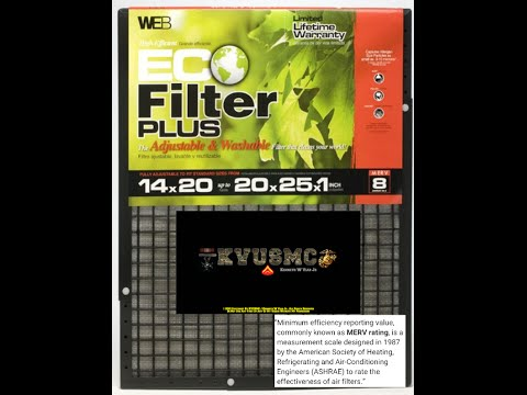 WEB Eco Filter Plus Adjustable Air Filter 14x20x1 up to 20x25x1