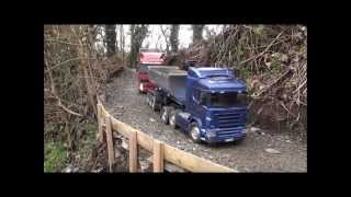 RC Tamiya Scania and Volvo trucks
