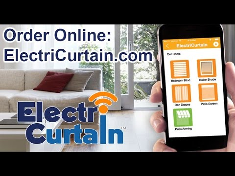 ElectriCurtain - Motorized Curtain System CL-920A in action