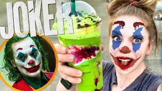 Trying Starbucks JOKER FRAPPUCCINO!