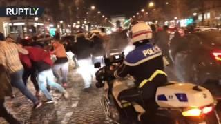 French Celebration  Football fans go ballistic over PSG destruction of Barcelona