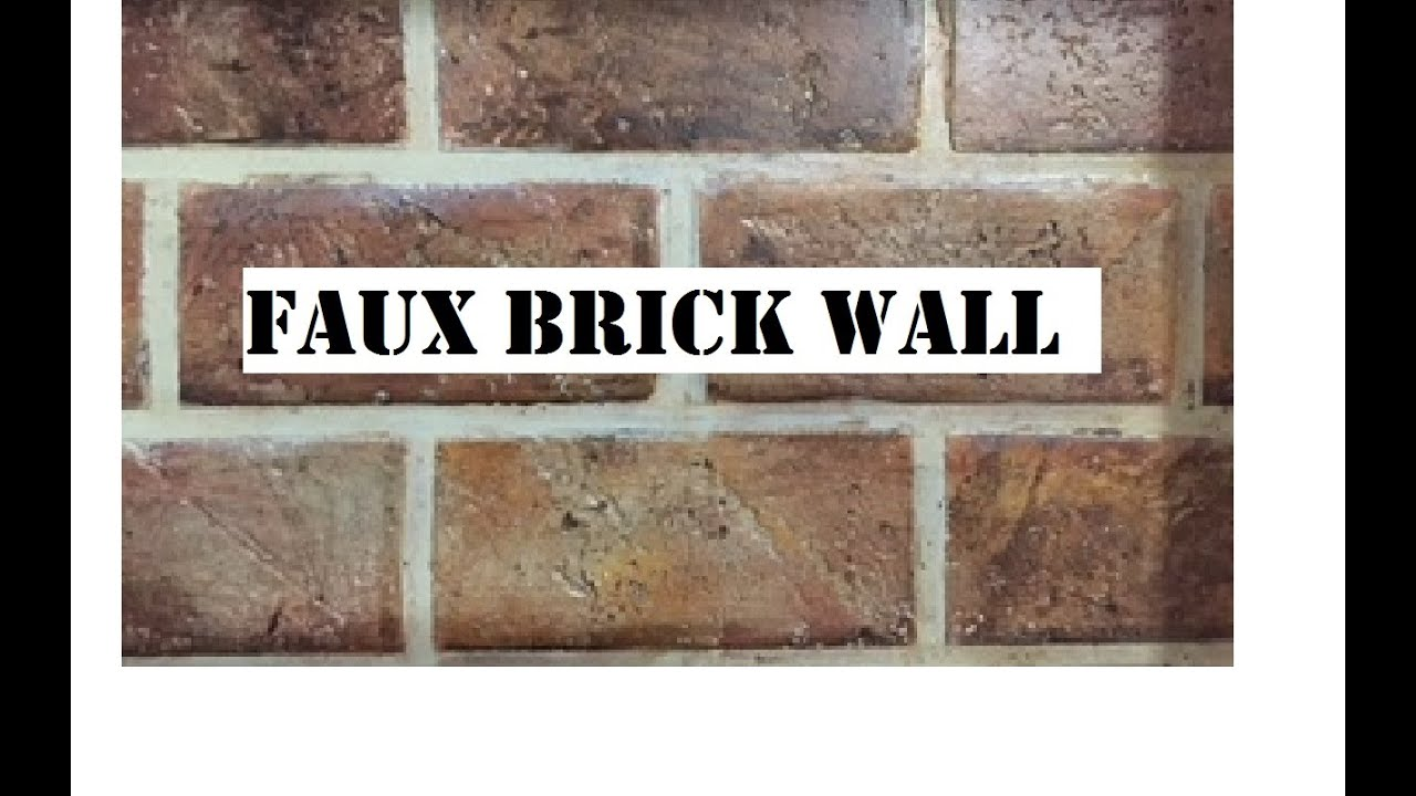 Faux Brick Wall Diy Easy And Inexpensive My Design