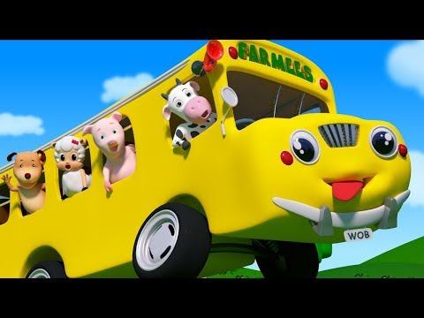 Wheels On The Bus | Nursery Rhymes & Kids Songs | Cartoon Videos For Children
