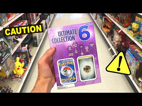 *DO NOT BUY THESE POKEMON CARDS!* Opening NEW Ultimate Collection 6 Boxes AT TARGET STORE!