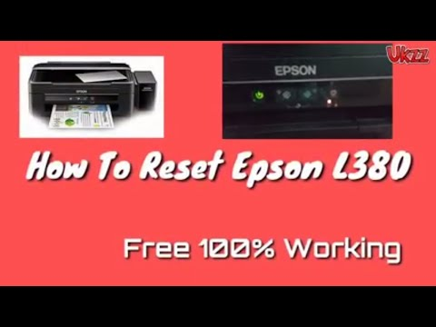 Epson L380 Reset 100% Working | Waste Ink Counter Reset
