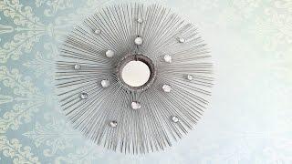 اشغال يدوية صنع مرآة جميلة و بادوات بسيطة