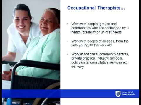 Occupational Therapy - Open Day 2012 - University of South Australia