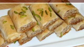 Baklava Rolls Recipe by Manjula