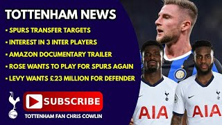 TOTTENHAM NEWS: Transfer Targets, Swap for 3 Inter Players, Amazon Trailer, Rose Wants to Play Again