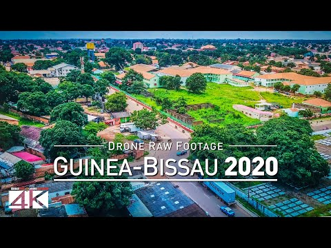 【4K】Drone RAW Footage | This is GUINEA-BISSAU 2020 | Capital