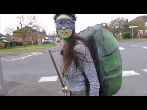 how to make teenage mutant ninja turtle shells (TMNT) 2014 film