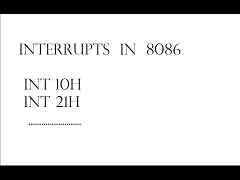 8086 Assembly Language | Part 04 - Interrupts and Intterupt Vector Table | By Vikash Mehta
