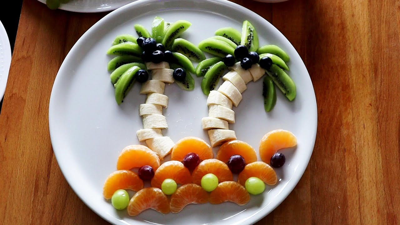 How to Make Palm Trees with Fruits - Super Fruits Decoration Ideas