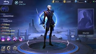 NEW HERO ZOE KEMBARAN GUSION ROLE ASSASSIN/MAGE - Mobile legends