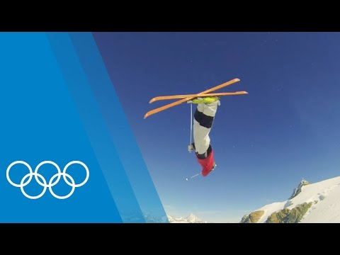Moguls training with the Dufour-Lapointe sisters