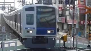 西武池袋線 ラッシュ 準急「所沢行き」大泉学園駅到着