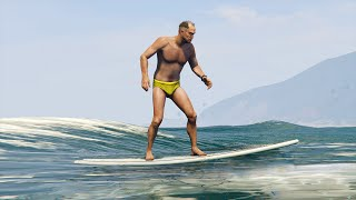 SURFING ON WATER MOD GTA 5 Mods Funny Moments