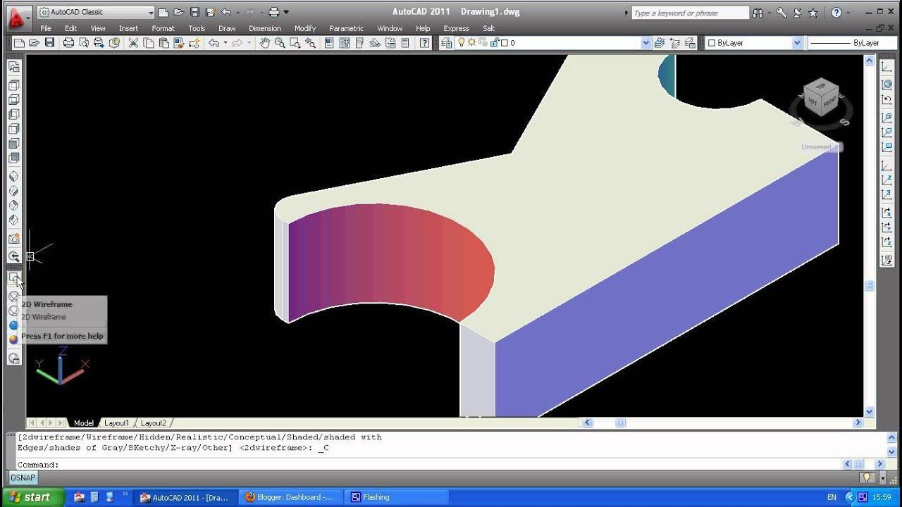 Video Cara Melakukan Fillet Objek 3d Menggunakan Autocad Youtube