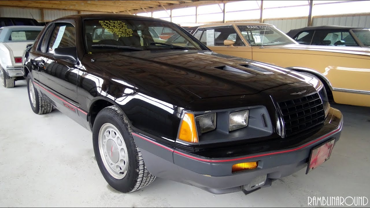 medium resolution of 1986 ford thunderbird turbo coupe