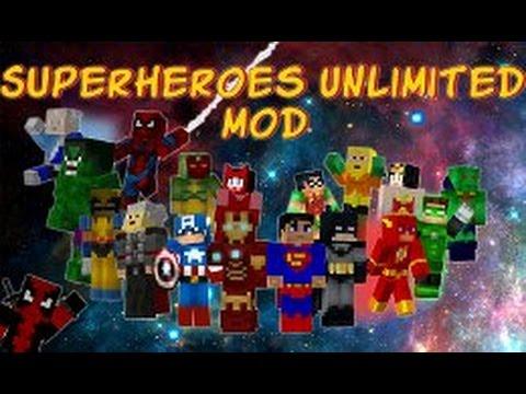как скачать обзор  мода  на супергероев 1.7.10