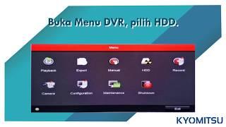 FORMAT HARDISK CCTV DVR HD 91XX