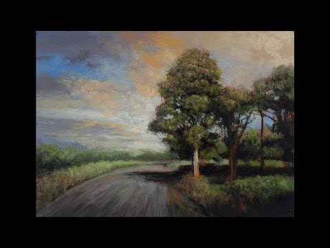 Late Afternoon Road 5×7 Time Lapse Painting Demonstration