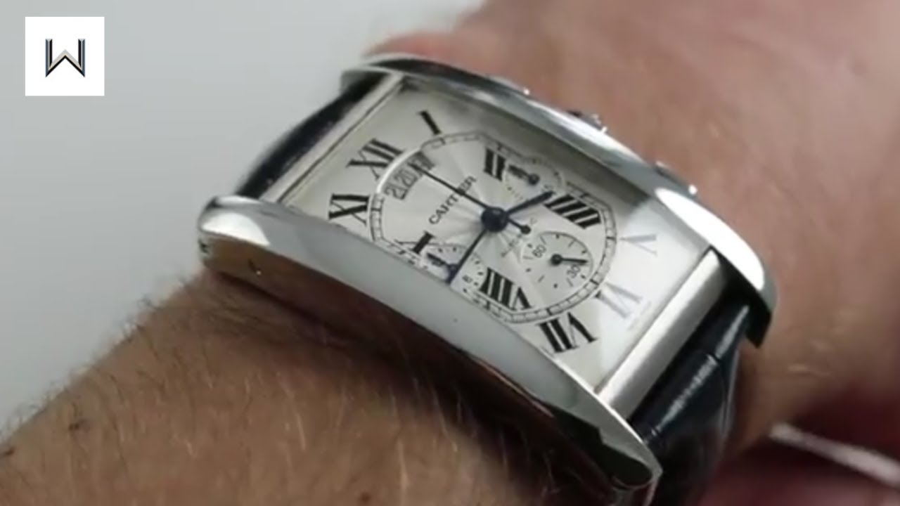 Cartier Tank Americaine Xl Chrono W2609456 18k White Gold