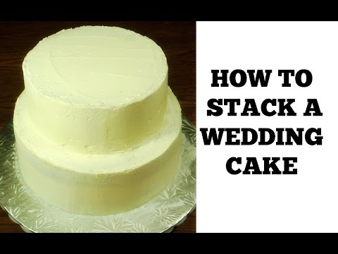 how-to-make-a-wedding-cake:-stacking-a-2-tier-wedding-cake-(part-1)-by-(huma-in-the-kitchen)