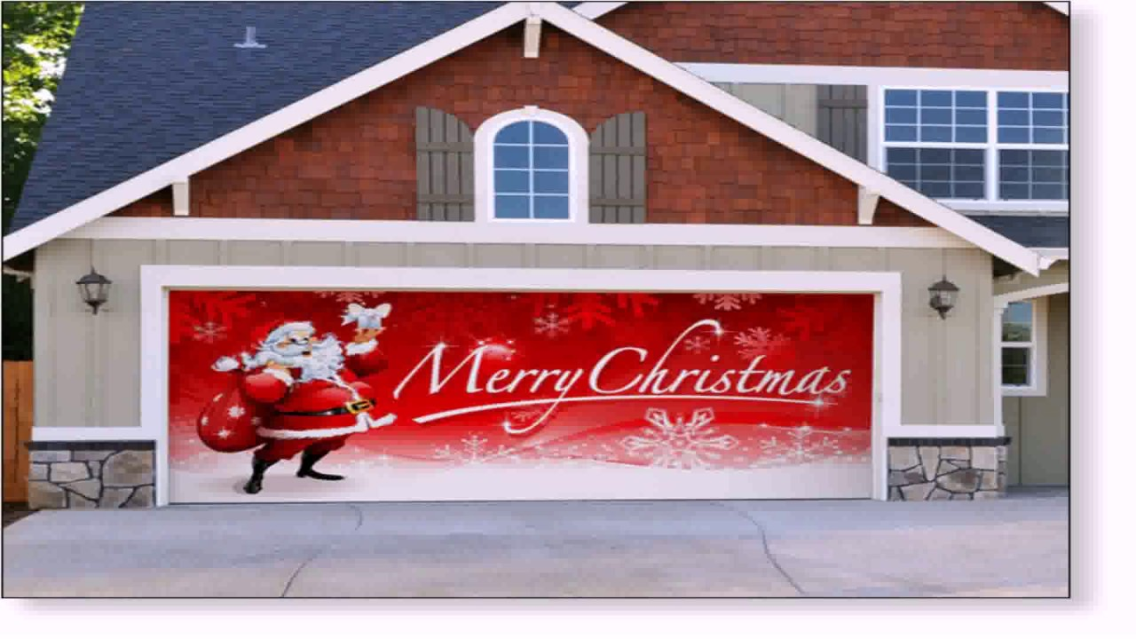 Diy Garage Door Christmas Decorations Youtube
