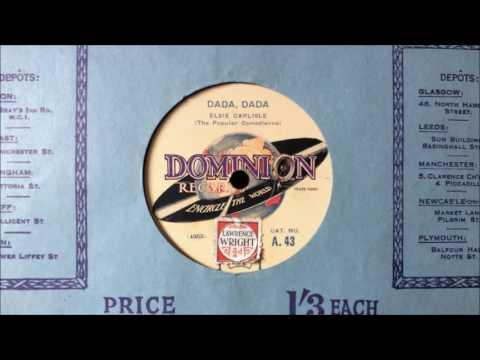 """Elsie Carlisle - """"Dada, Dada"""" (Dominion; 1928)"""