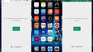 How to fix Error retrieving information from server RH-01 and  DF-DFERH-01  Google Play Store